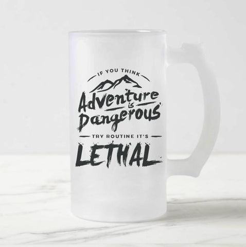 Adventure Frosted Beer Mug