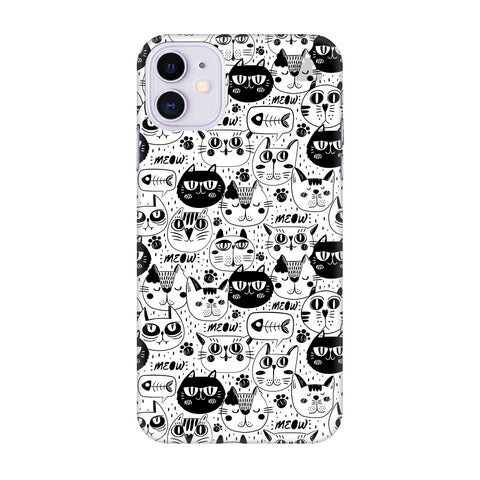 Cute Cats Pattern Apple Iphone 11 Cover