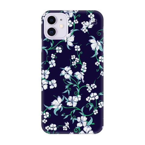 Dogwood Floral Pattern Apple Iphone 11 Cover