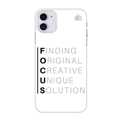 Focus Apple Iphone 11 Cover