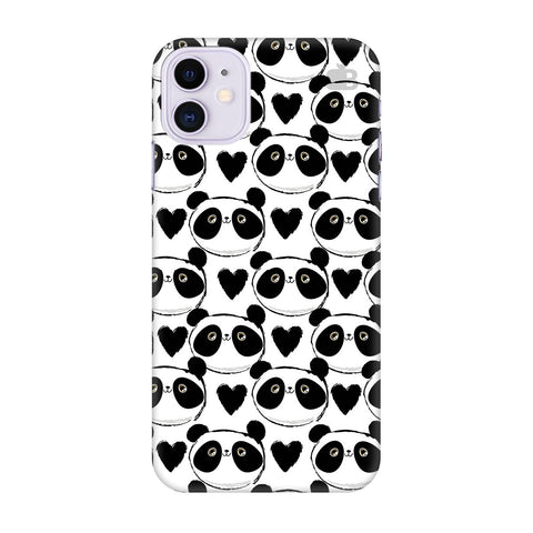 Happy Panda Pattern Apple Iphone 11 Cover