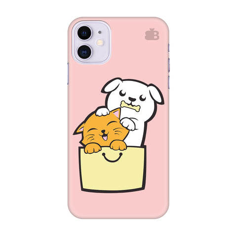 Kitty Puppy Buddies Apple Iphone 11 Cover