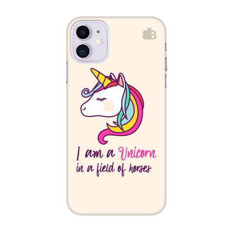 Unicorn In Horses Apple Iphone 11 Cover