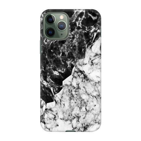 Black White Marble Apple Iphone 11 Pro Cover