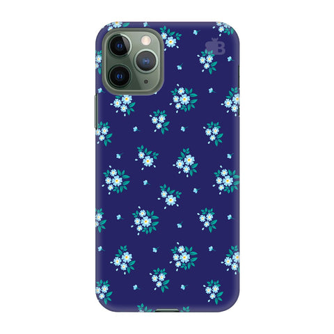 Blue Floral Pattern Apple Iphone 11 Pro Cover