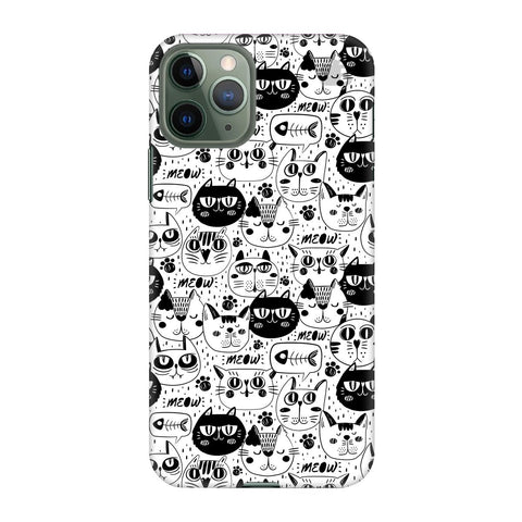 Cute Cats Pattern Apple Iphone 11 Pro Cover