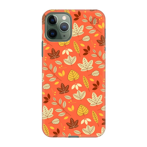 Cute Leaves Pattern Apple Iphone 11 Pro Cover