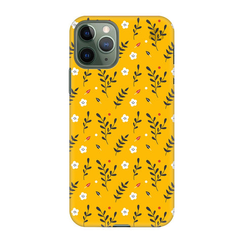 Summer Floral Pattern Apple Iphone 11 Pro Cover