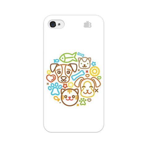 Cute Pets Apple iPhone 4 Phone Cover