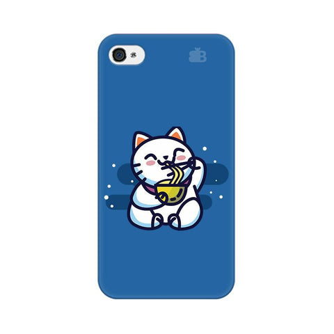 KItty eating Noodles Apple iPhone 4 Phone Cover