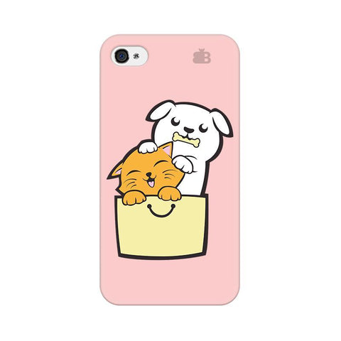 Kitty Puppy Buddies Apple iPhone 4 Phone Cover