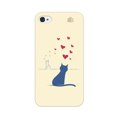 Kitty in Love Apple iPhone 4 Phone Cover