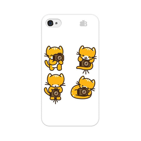 Photographer Kitty Apple iPhone 4 Phone Cover
