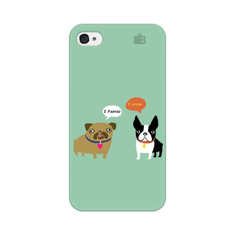 Cute Dog Buddies Apple iPhone 4s Phone Cover
