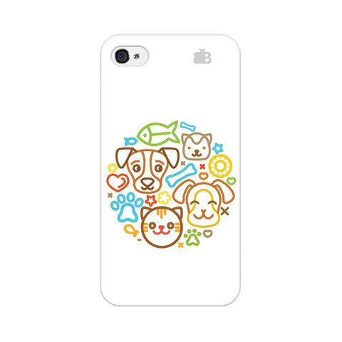Cute Pets Apple iPhone 4s Phone Cover