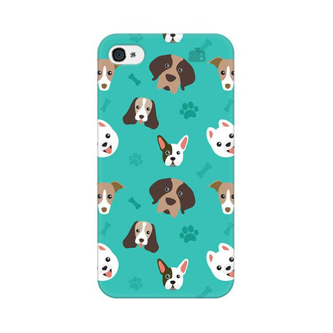 Doggie Pattern Apple iPhone 4s Phone Cover