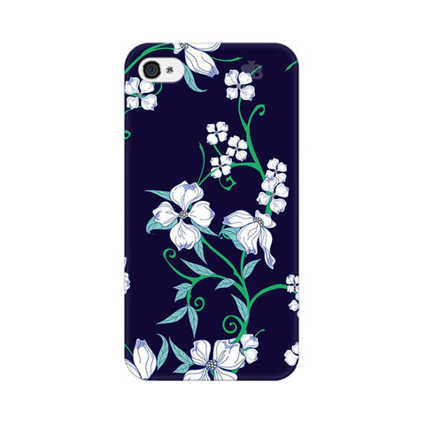 Dogwood Floral Pattern Apple iPhone 4s Phone Cover
