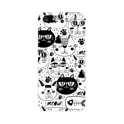 Cute Cats Pattern Apple iPhone 5 Phone Cover