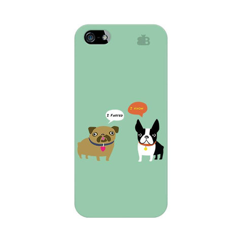 Cute Dog Buddies Apple iPhone 5 Phone Cover