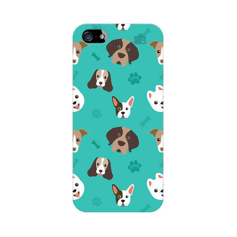 Doggie Pattern Apple iPhone 5 Phone Cover