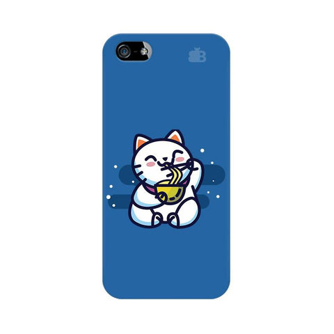 KItty eating Noodles Apple iPhone 5 Phone Cover