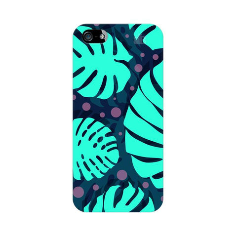 Tropical Leaves Pattern Apple iPhone 5 Phone Cover