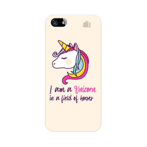 Unicorn in Horses Apple iPhone 5 Phone Cover