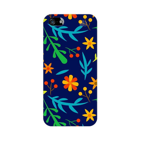 Vibrant Floral Pattern Apple iPhone 5 Phone Cover
