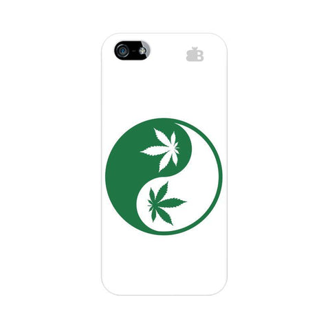 Weed Yin Yang Apple iPhone 5 Phone Cover