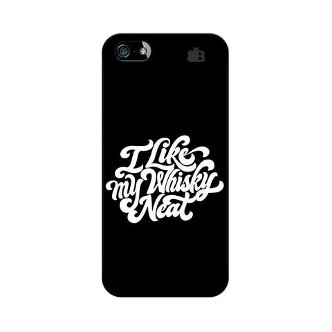 Whiskey Neat Apple iPhone 5 Phone Cover