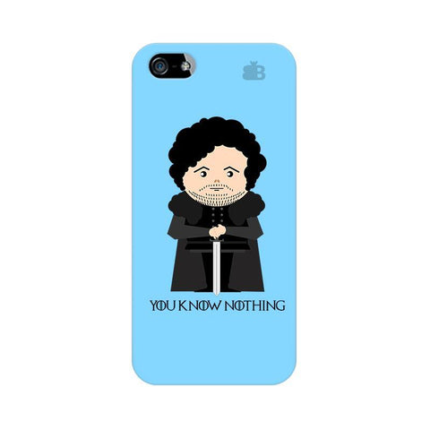 You Know Nothing Apple iPhone 5 Phone Cover