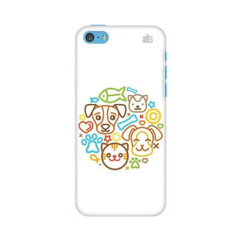 Cute Pets Apple iPhone 5c Phone Cover