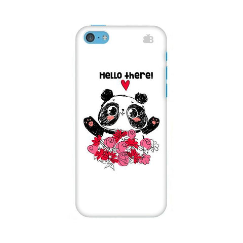 Panda Hello Apple iPhone 5c Phone Cover