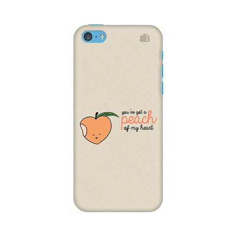 Peach of my heart Apple iPhone 5c Phone Cover