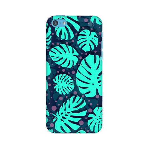 Tropical Leaves Pattern Apple iPhone 5c Phone Cover
