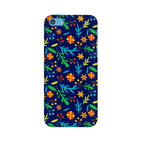 Vibrant Floral Pattern Apple iPhone 5c Phone Cover
