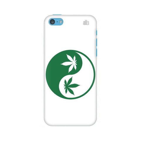 Weed Yin Yang Apple iPhone 5c Phone Cover