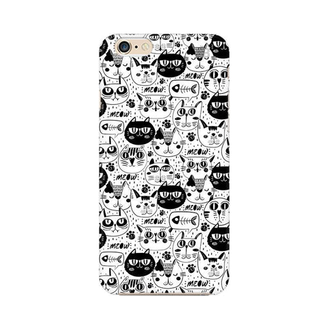 Cute Cats Pattern Apple iPhone 6 Plus Phone Cover