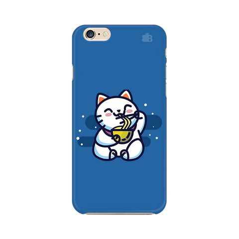 KItty eating Noodles Apple iPhone 6 Plus Phone Cover