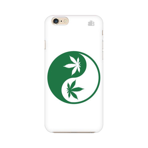 Weed Yin Yang Apple iPhone 6 Plus Phone Cover