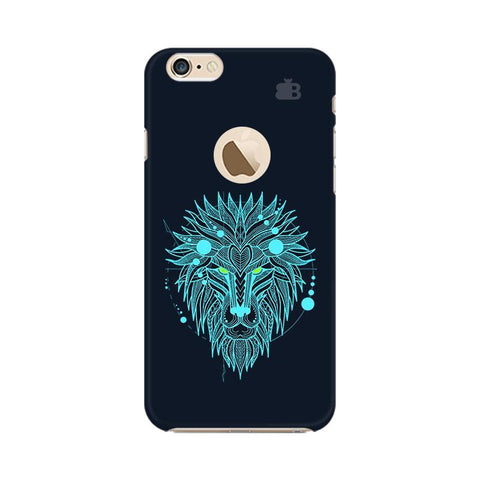 Abstract Art Lion Apple iPhone 6 with Apple Round  Phone Cover