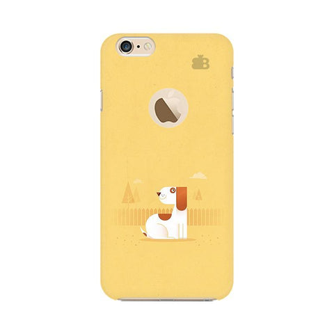 Calm Dog Apple iPhone 6 with Apple Round  Phone Cover