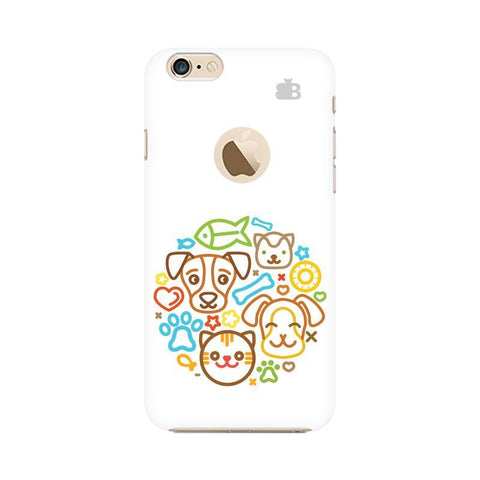Cute Pets Apple iPhone 6 with Apple Round  Phone Cover