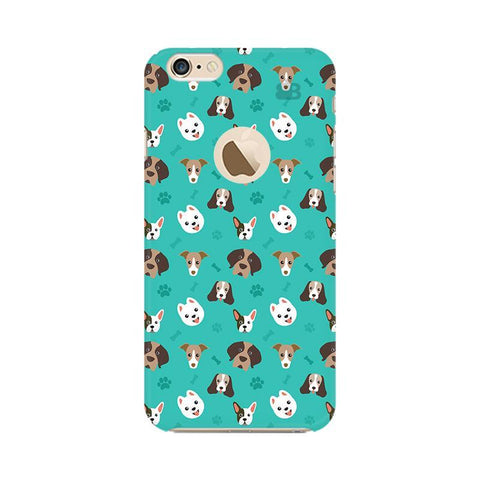Doggie Pattern Apple iPhone 6 with Apple Round  Phone Cover