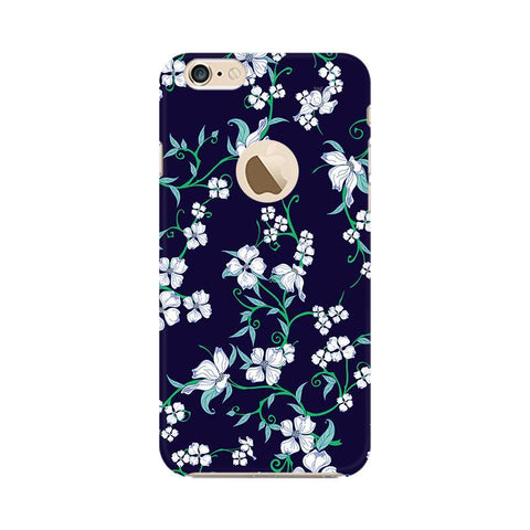 Dogwood Floral Pattern Apple iPhone 6 with Apple Round  Phone Cover