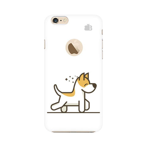 Happy Puppy Apple iPhone 6 with Apple Round  Phone Cover