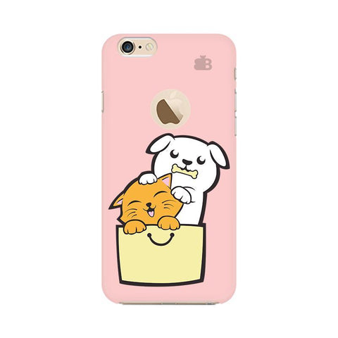Kitty Puppy Buddies Apple iPhone 6 with Apple Round  Phone Cover