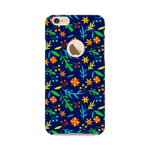 Vibrant Floral Pattern Apple iPhone 6 with Apple Round  Phone Cover