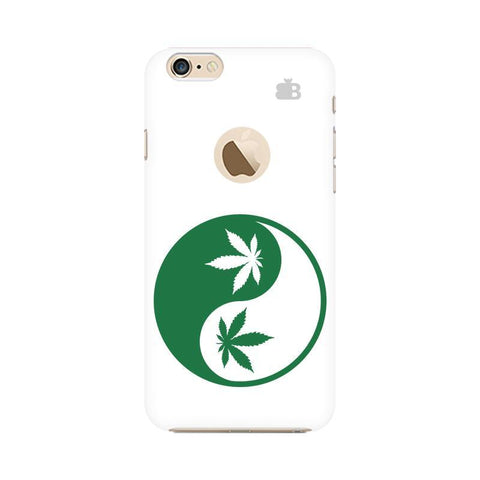 Weed Yin Yang Apple iPhone 6 with Apple Round  Phone Cover