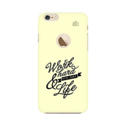 Work Hard Apple iPhone 6 with Apple Round  Phone Cover